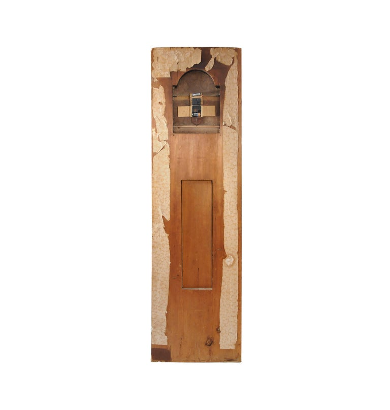 Federal New Hampshire Architectural Faux Front Tall Case Clock For Sale