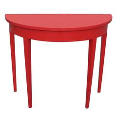 Floating Red Entry Console Table
