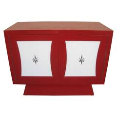 Three-Drawer Petit Red Dresser
