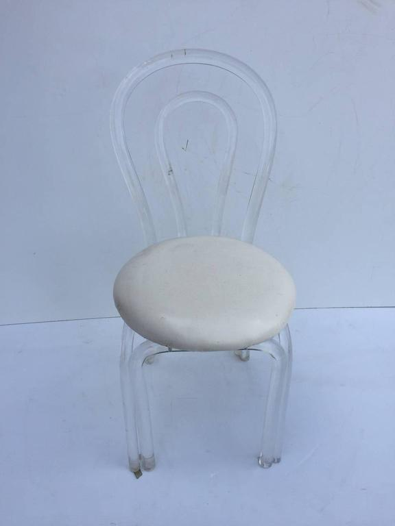 Pair of Hollywood Lucite Chairs 2