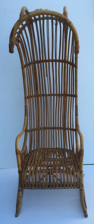 Rattan Canopy Chair, Perfect For Accent Or A Sunroom.