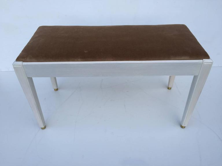 Art Deco Inspired White Washed Piano Bench For Sale At 1stdibs