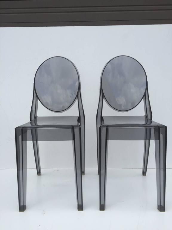 Five Signed Lucite Ghost Chairs For Sale 1