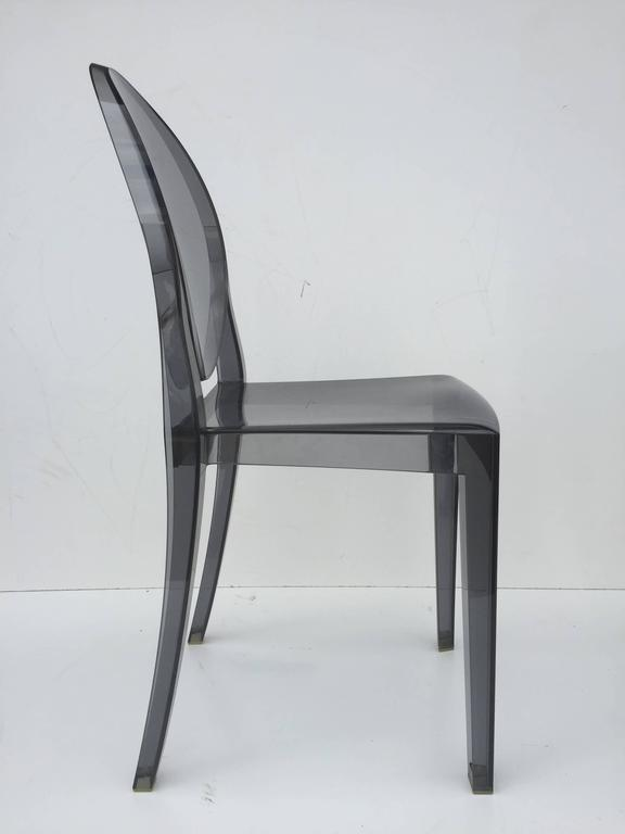 Five Signed Lucite Ghost Chairs For Sale 3