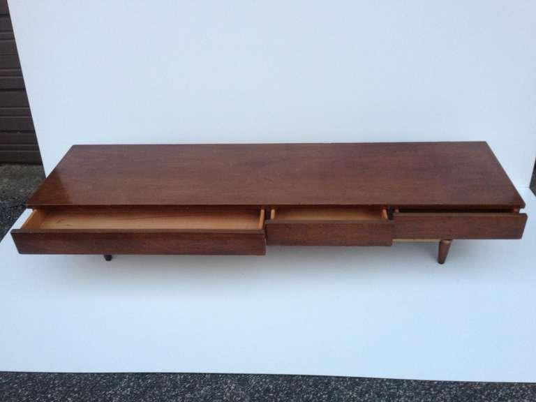 Stunning Widdicomb Style Low Low Console Cabinet For Sale at 1stdibs