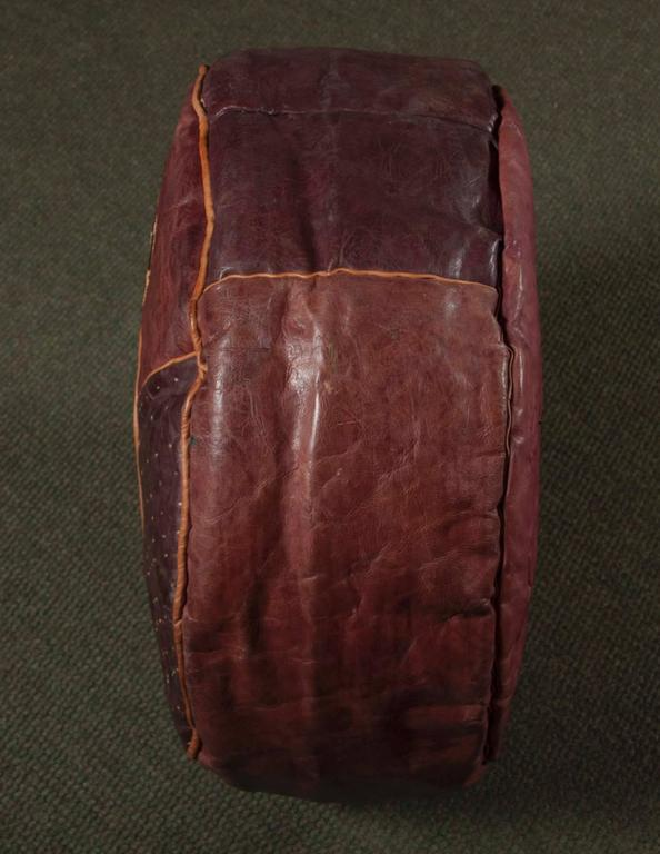 Floor Pillows Leather : Pair of Leather Floor Cushions at 1stdibs