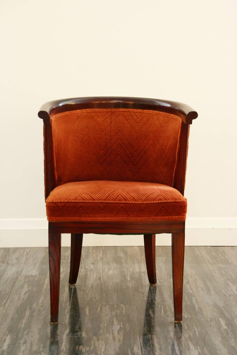 Ten harold schwartz mid century tub shaped dining chairs for Z shaped dining room chairs