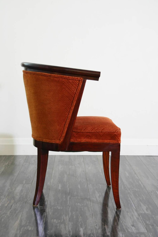ten harold schwartz mid century tub shaped dining chairs