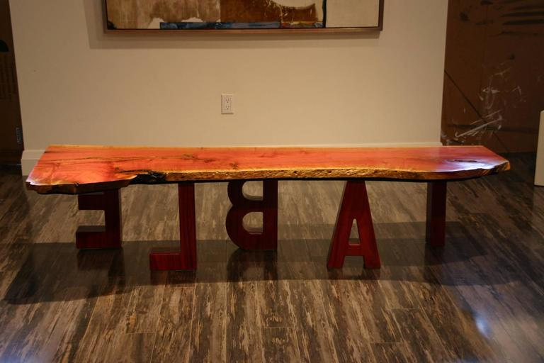 Pink Ivory Wood Coffee Table For Sale At 1stdibs