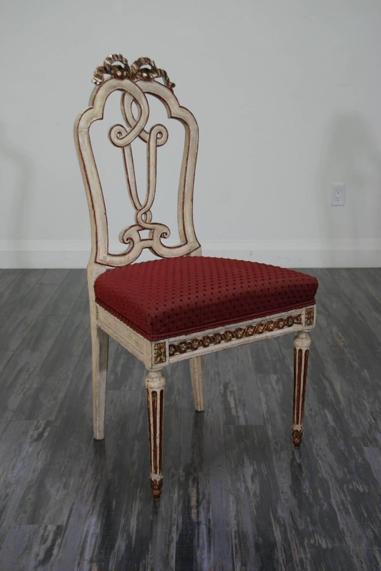Louis XVI Set of Ten 18th Century Dining Chairs For Sale