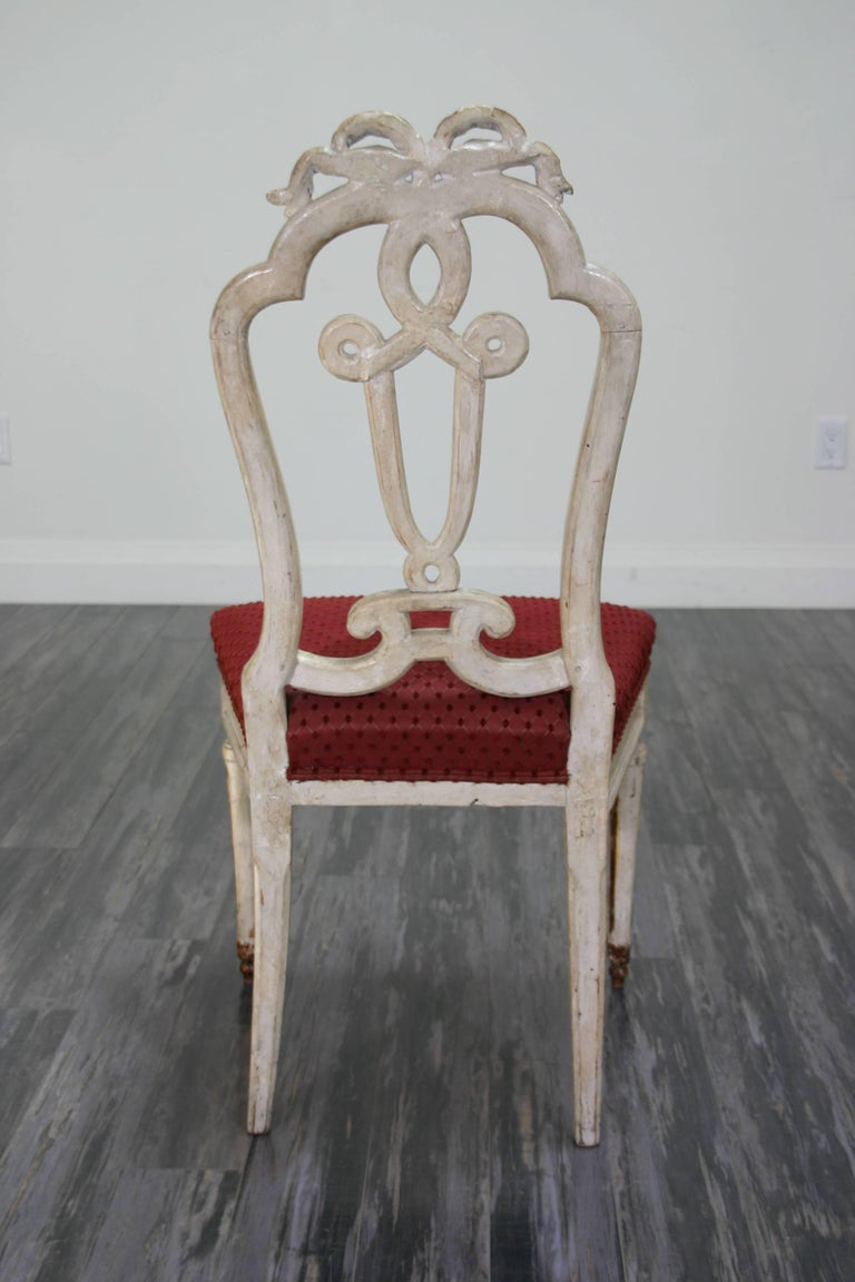 Italian Set of Ten 18th Century Dining Chairs For Sale