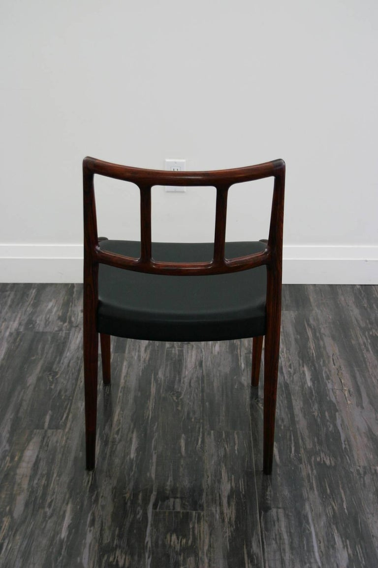 Hand-Carved Set of Four Danish 1960s Rosewood Designed by Johannes Andersen For Sale