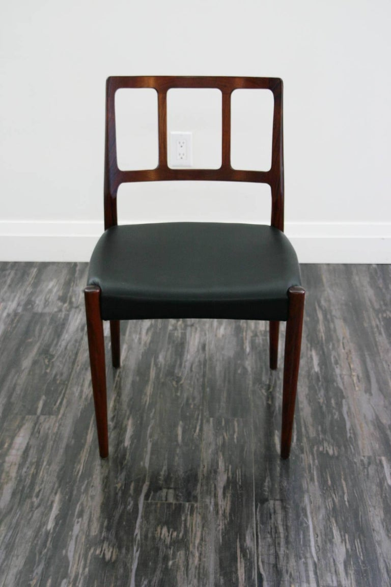 Mid-Century Modern Set of Four Danish 1960s Rosewood Designed by Johannes Andersen For Sale