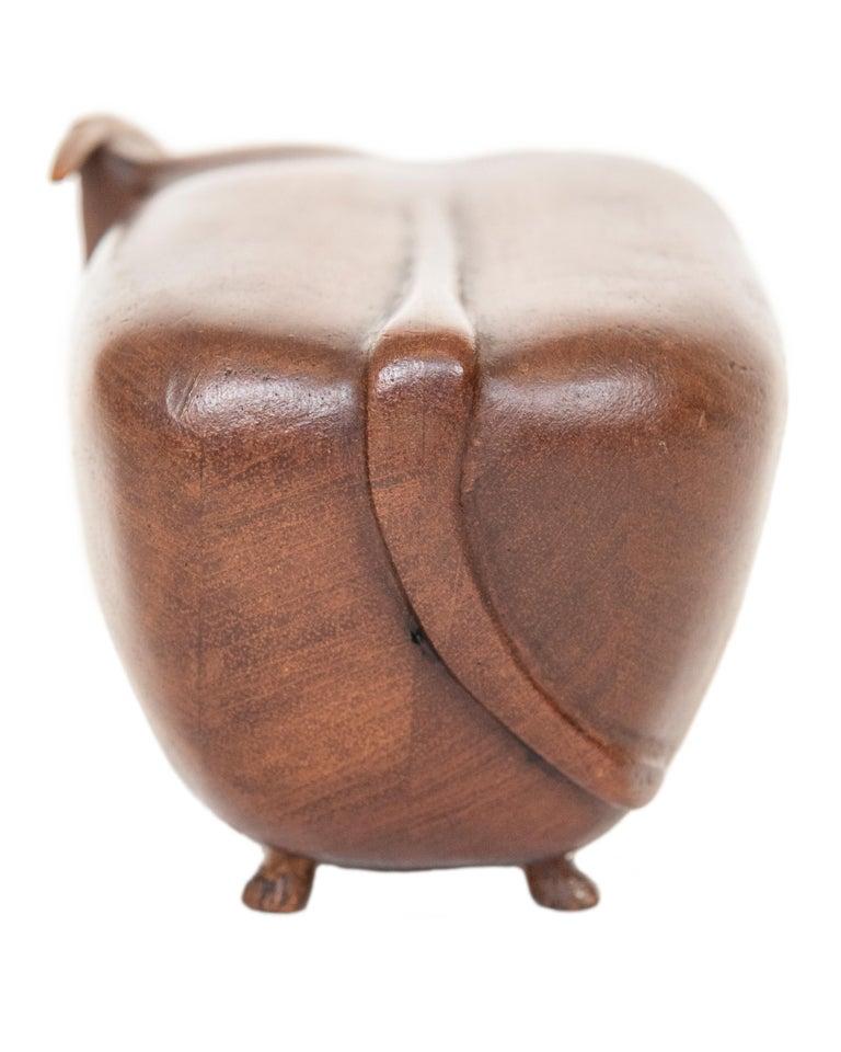 Mid-Century Modern Vintage MCM Wood Toro/Bull Signed JW For Sale