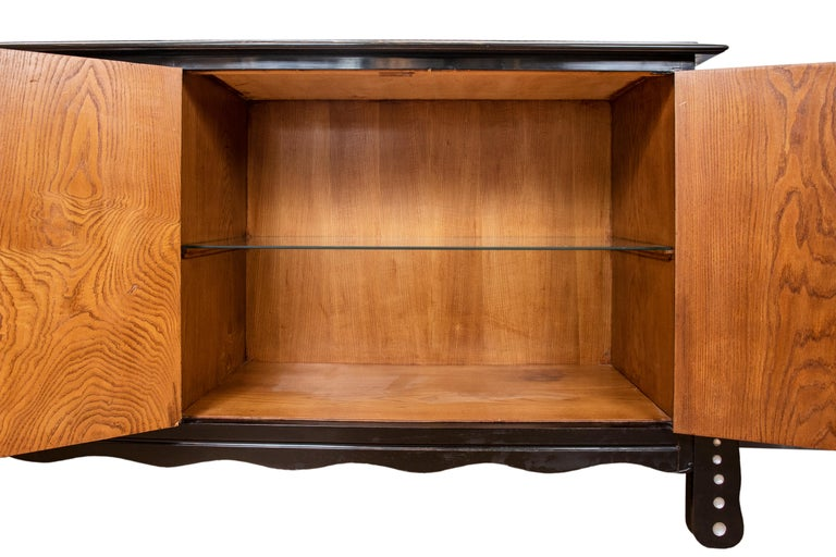 Vintage Deco Cabinet or Sideboard after Charles Rennie Mackintosh In Good Condition For Sale In Toronto, ON
