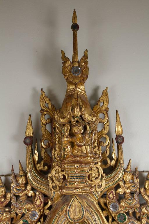 Stunning Gilded Wood Burmese Mirror For Sale At 1stdibs