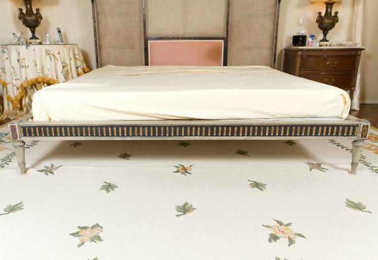 French Maginificent Rare Louis XVI Style Bed For Sale