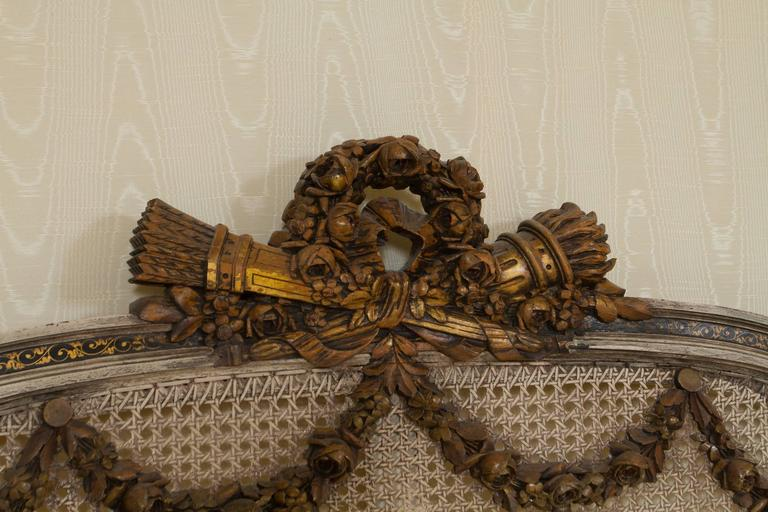 Maginificent Rare Louis XVI Style Bed For Sale 2
