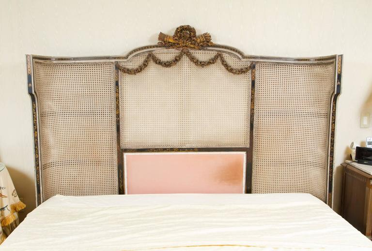 Maginificent Rare Louis XVI Style Bed For Sale 4
