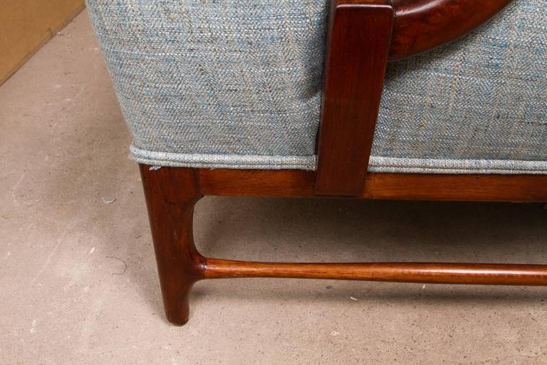 Mid-20th Century Pair of Midcentury Wingback Armchairs by Paolo Buffa For Sale