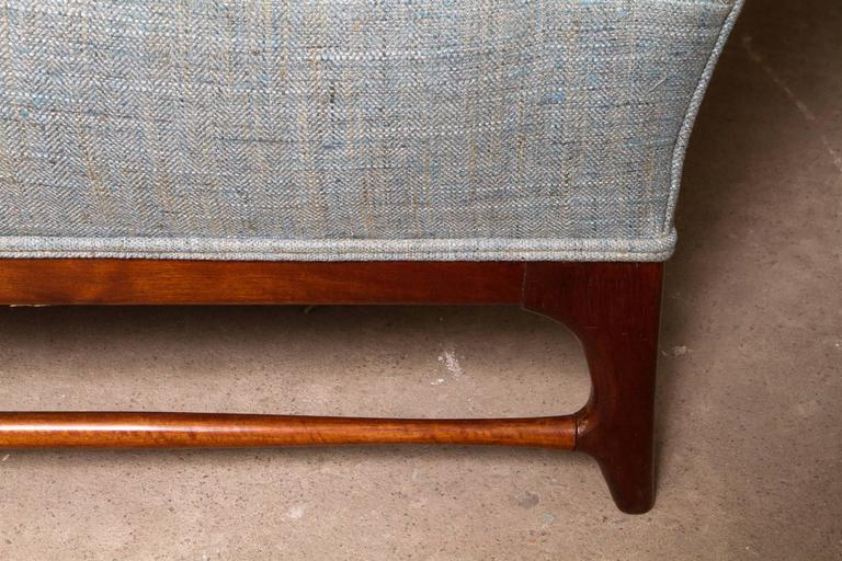Pair of Midcentury Wingback Armchairs by Paolo Buffa For Sale 1