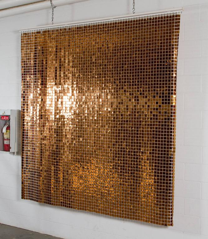 Copper Curtain Wall : Iconic copper color quot space curtain by paco rabanne at stdibs
