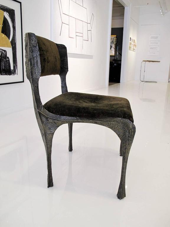 Sculpted Bronze Chair by Paul Evans 4