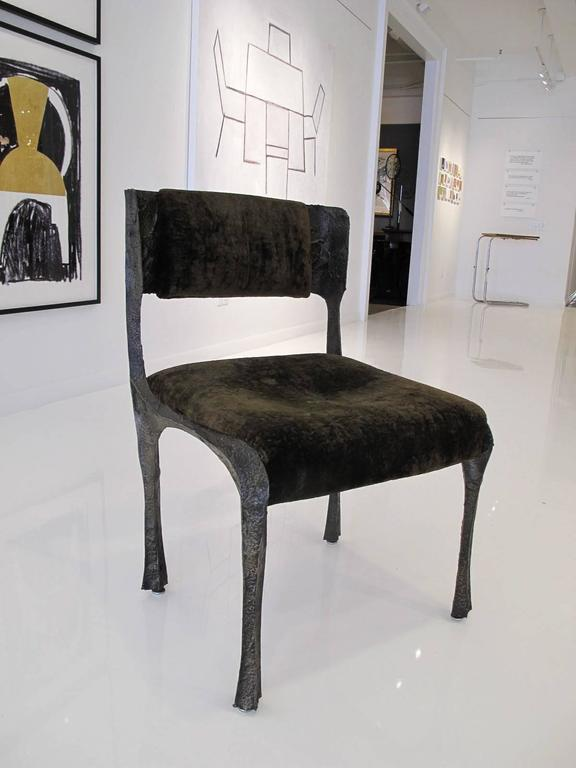 Sculpted Bronze Chair by Paul Evans 5