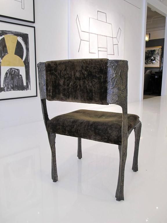 Sculpted Bronze Chair by Paul Evans 6