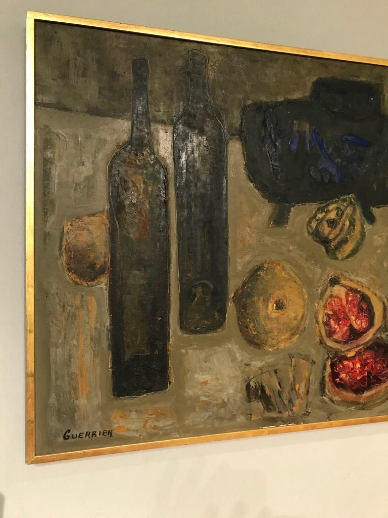 Colourful Still Life by Raymond Guerrier In Excellent Condition For Sale In Montreal, QC