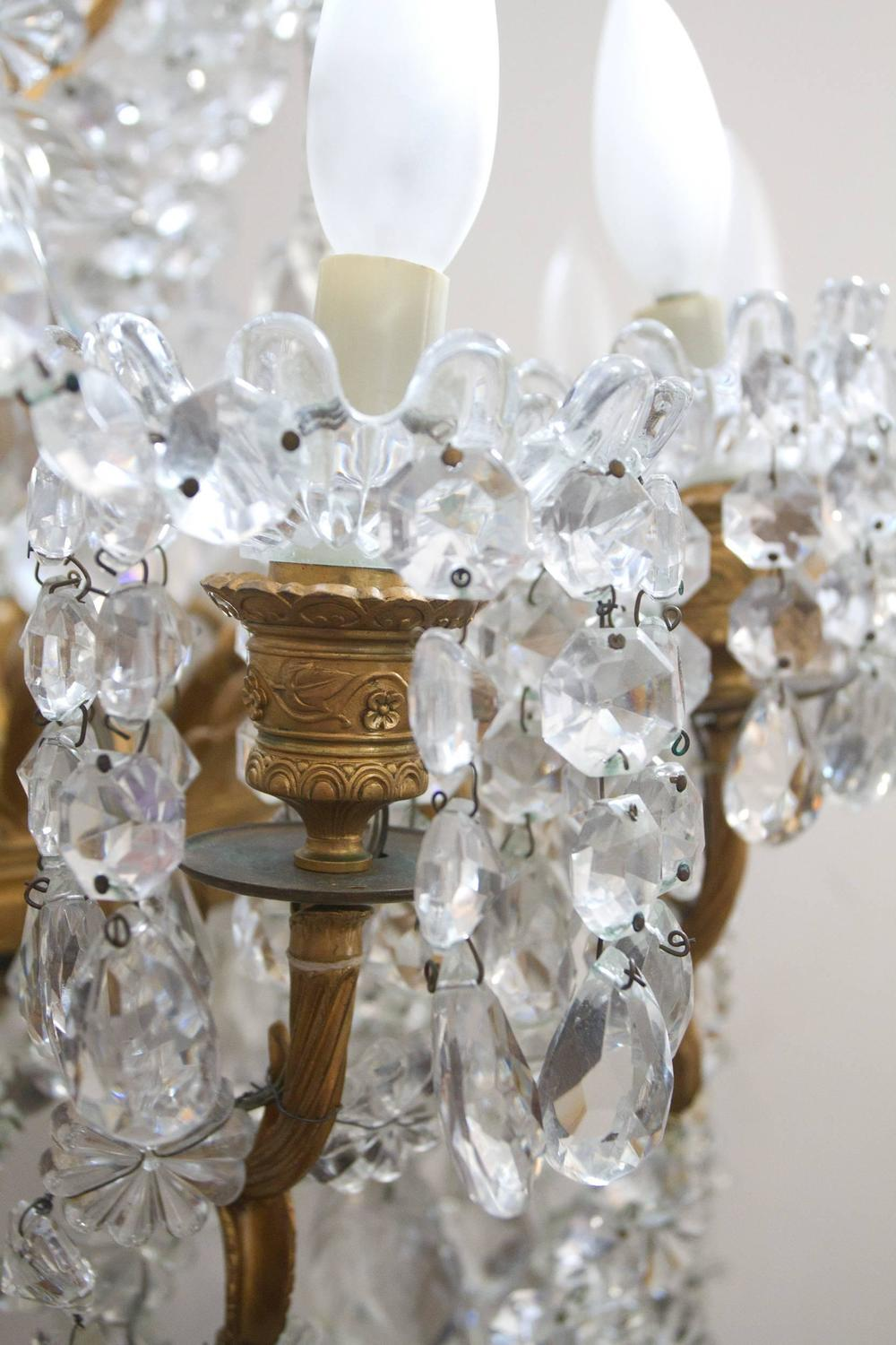 Neoclassical Style Crystal Chandelier By Baccarat And
