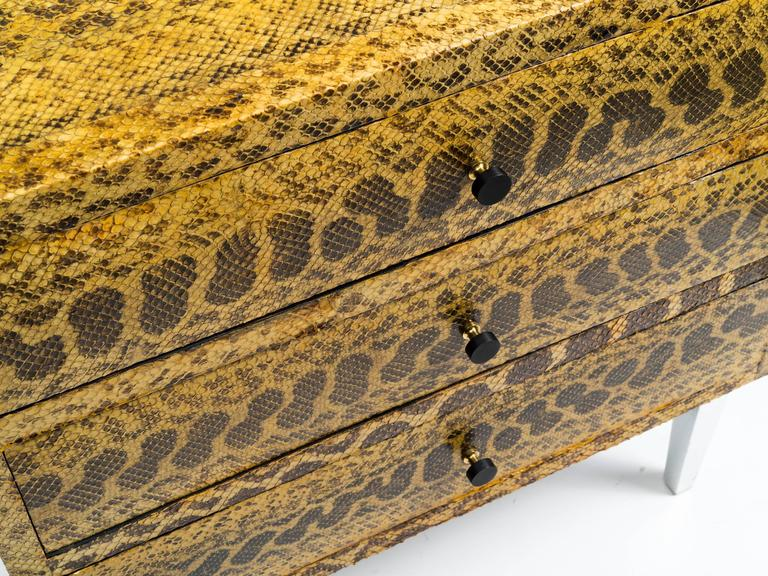 Mid-Century Modern Snakeskin Chest of Drawers For Sale