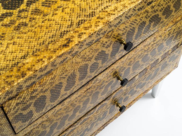 American Snakeskin Chest of Drawers For Sale