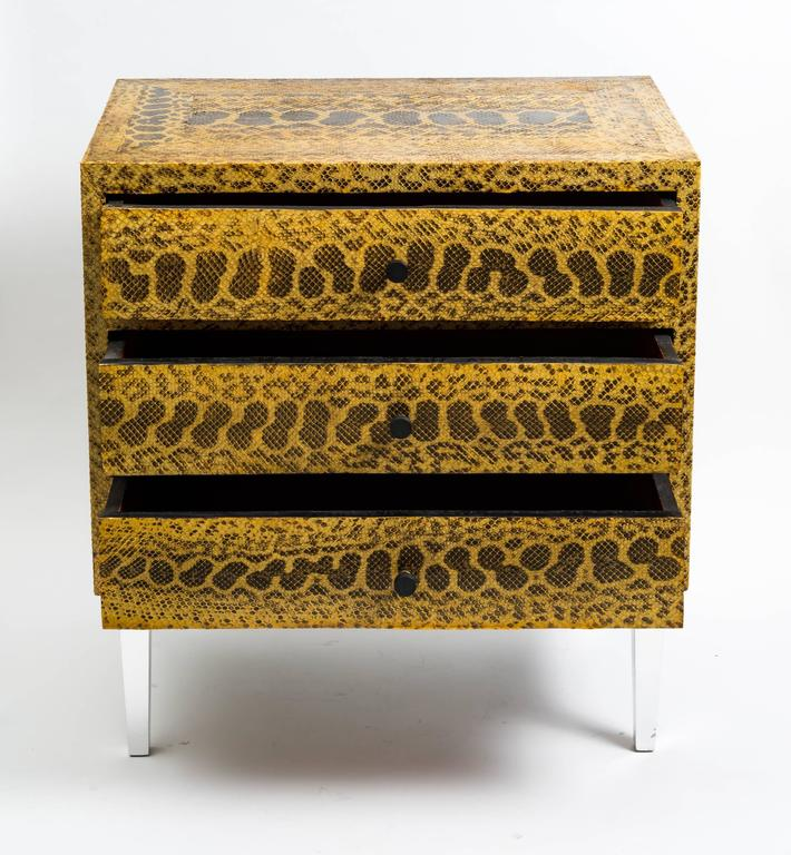 Late 20th Century Snakeskin Chest of Drawers For Sale