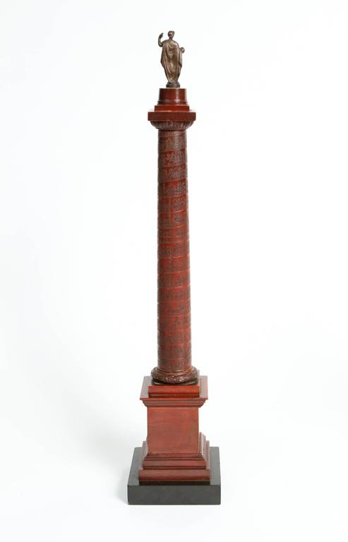 Pair of Rosso Antico Marble Grand Tour Columns For Sale 1