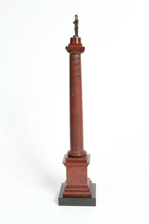 Pair of Rosso Antico Marble Grand Tour Columns For Sale 2