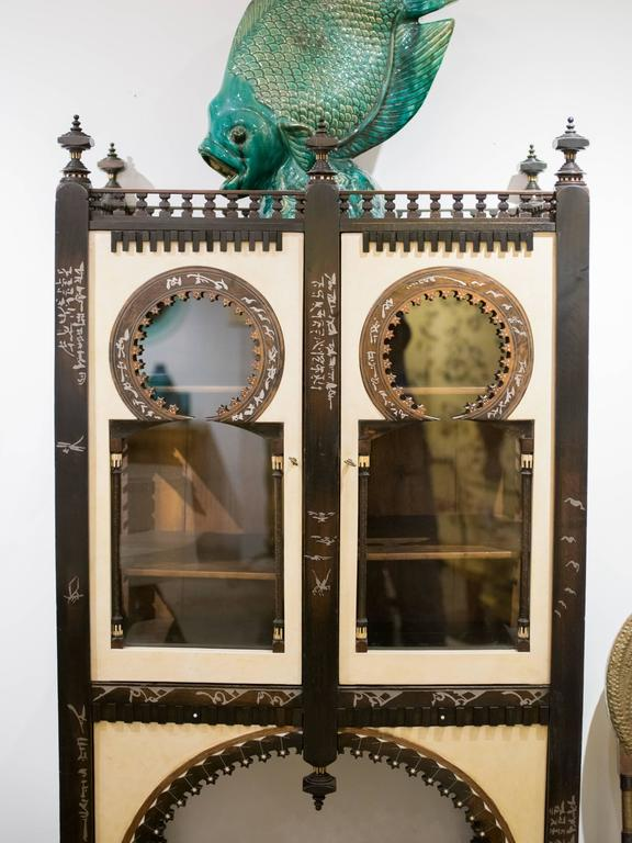 Important and Rare Cabinet by Carlo Bugatti In Excellent Condition For Sale In Montreal, QC