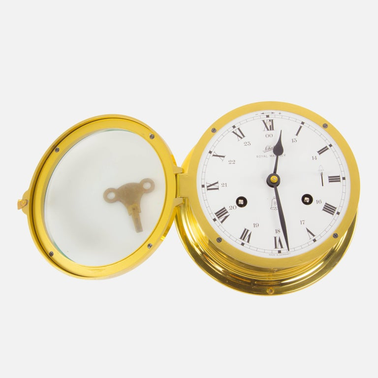 Schatz Royal Mariner Ships Brass Bell Clock At 1stdibs