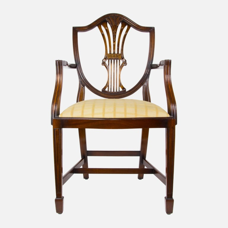 Set of Ten Hepplewhite Style Dining Chairs For Sale at 1stdibs