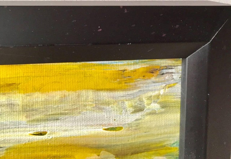 Contemporary 'Cliffs by the Beach' Acrylic on Canvas Abstract Painting Andrew Plum For Sale