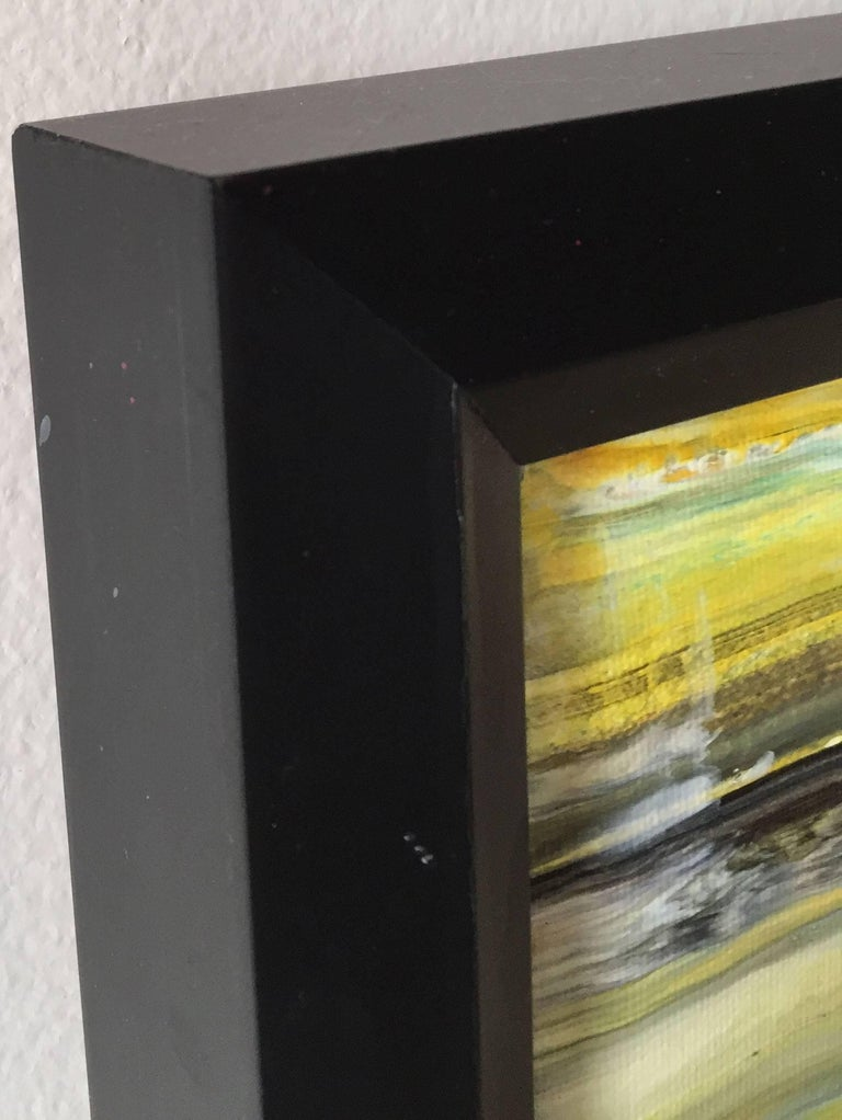 Hand-Painted 'Cliffs by the Beach' Acrylic on Canvas Abstract Painting Andrew Plum For Sale