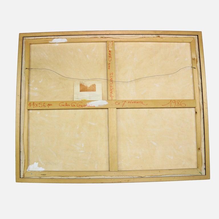 Mid-Century Modern Oil on Canvas Artist Signed Gilles Gosselin For Sale