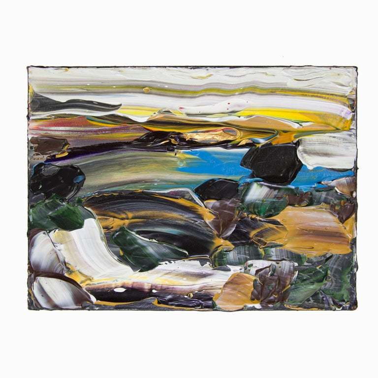 Modern Abstract Acrylic 'Siesta Sunrise Big Sur' Acrylic on Canvas Painting For Sale