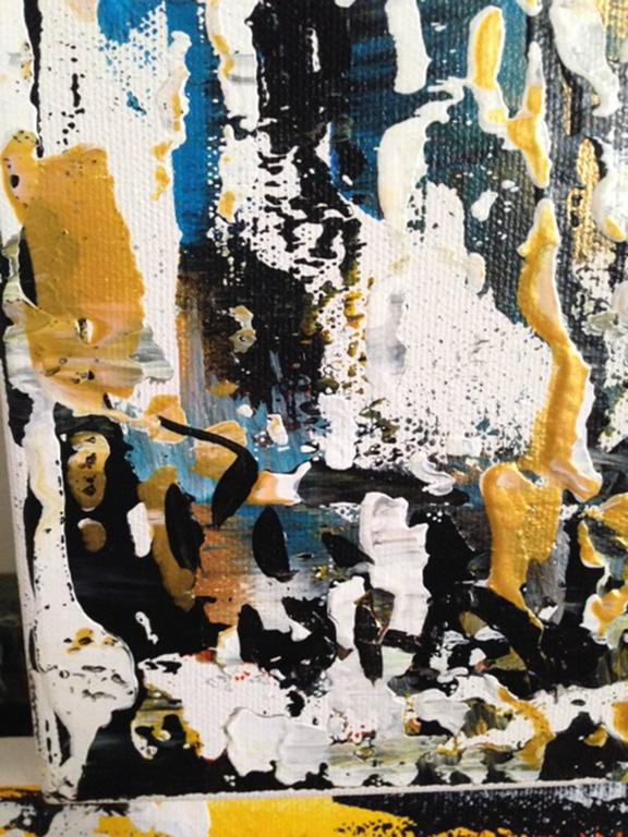 Modern The Offering Abstract Acrylic on Canvas Painting For Sale