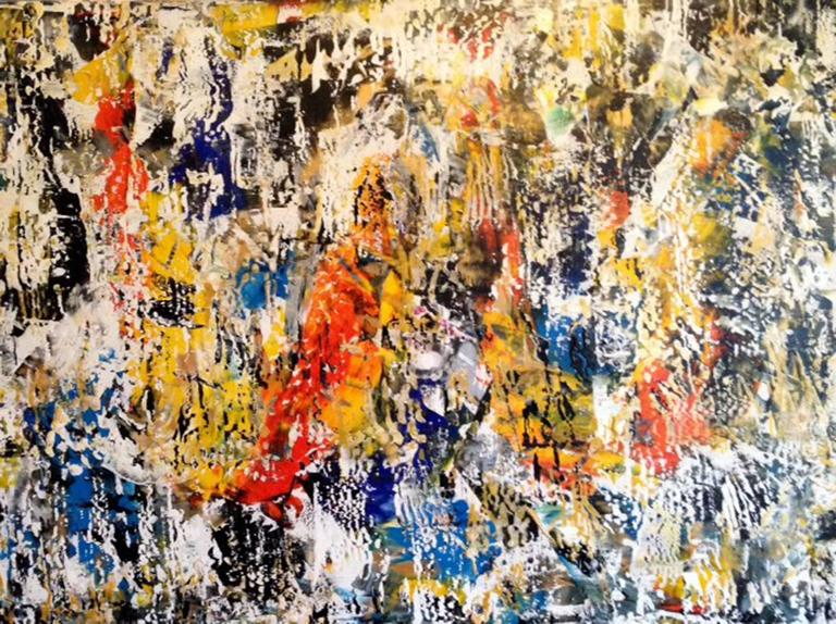 Contemporary The Offering Abstract Acrylic on Canvas Painting For Sale