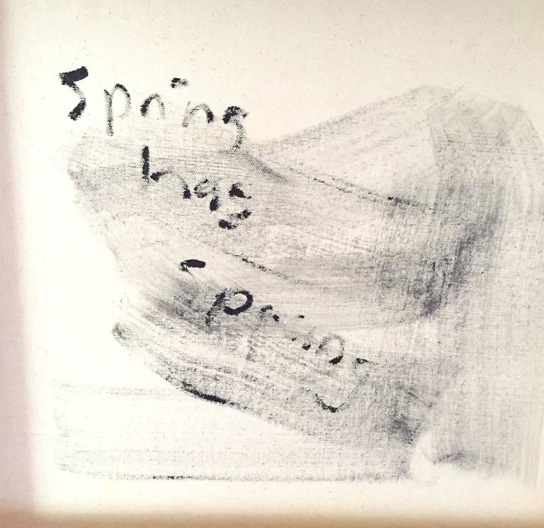 Hand-Painted 'Spring Has Sprung' Abstract Art Acrylic on Canvas Painting Andrew Plum For Sale