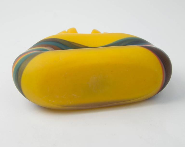 Romanian Modernist Vibrant Art Glass Vase Ioan Nemtoi For Sale