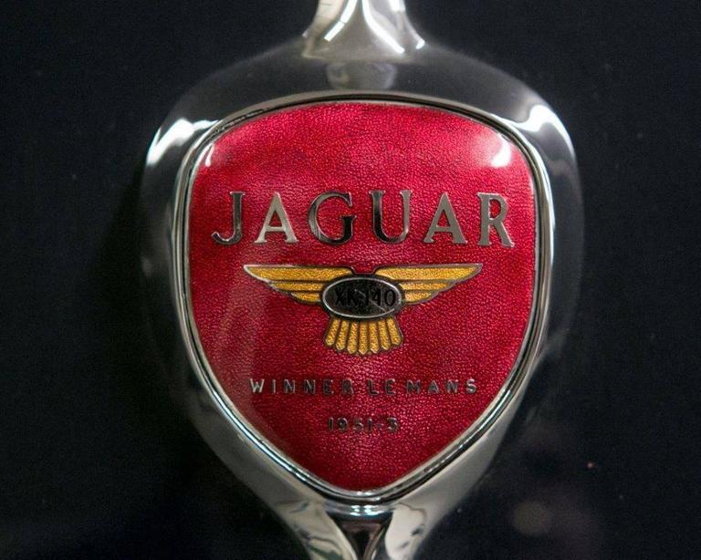Vintage 1955 Jaguar XK 140MC OTS Navy Blue Car For Sale 2