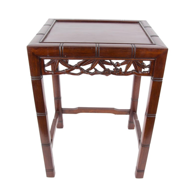 Chinese nest of four square stacking hardwood occasional for Oriental furniture montreal