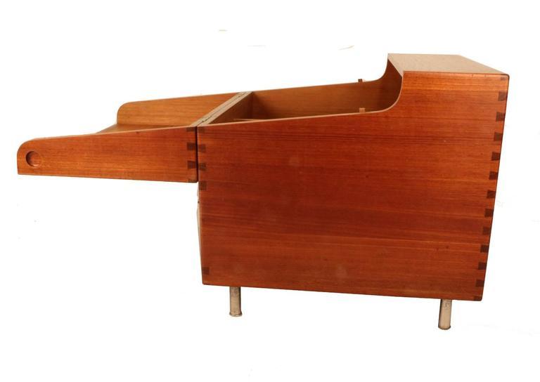 Scandinavian Modern Hans Wegner's Cube Bar for Andreas Tuck For Sale